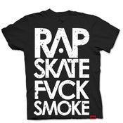 Image of RAP SKATE FVCK SMOKE (BLACK)