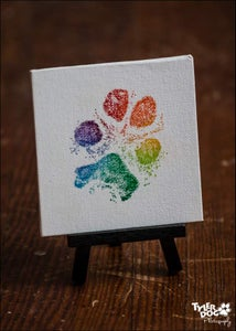 Image of 4x4 Canvas Paw Print (w)