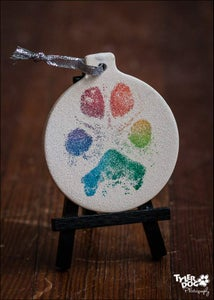 Image of 2014 Paw Print Ceramic Christmas Ornament