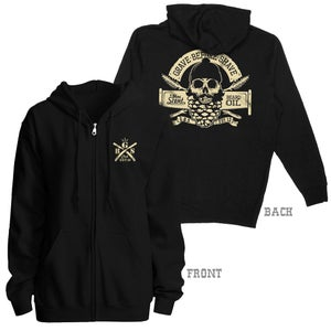 Image of GRAVE BEFORE SHAVE Pine Beard Zip Up Hoodie