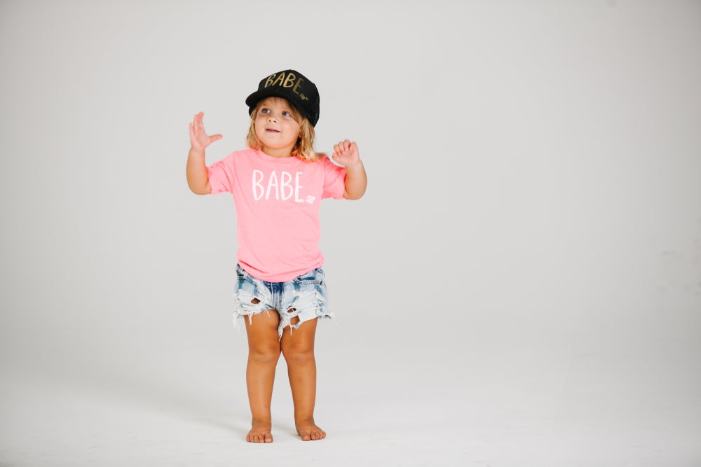 Image of Neon Pink T with White