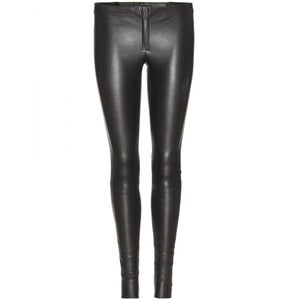 Image of Alice + Olivia - zip front leather legging