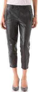 Image of Helmut Lang Morimoto Slouchy Leather Pants