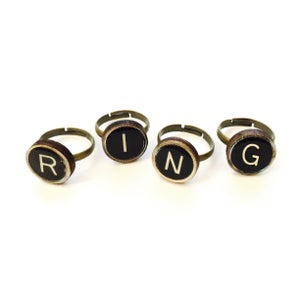 Image of Typewriter Key Ring