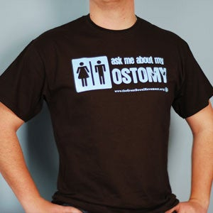 Image of Ask Me About My Ostomy T-Shirt - Men's