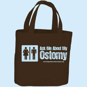 Image of Ask Me About My Ostomy Tote Bag