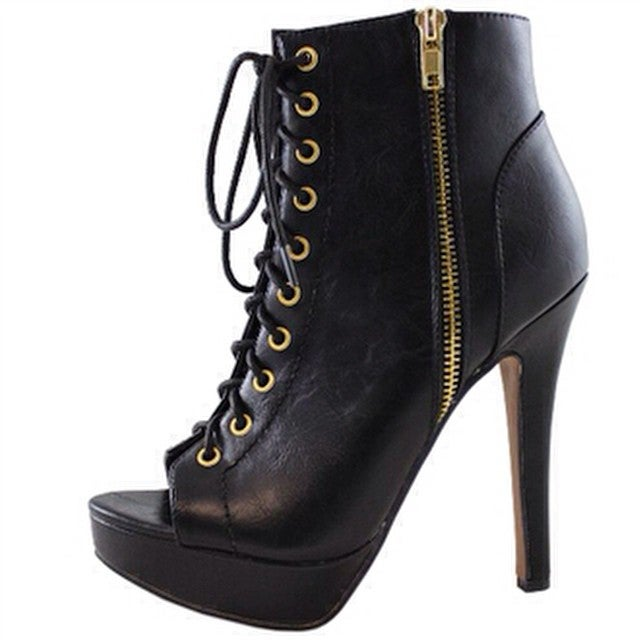 Image of Gina Lace Up Bootie