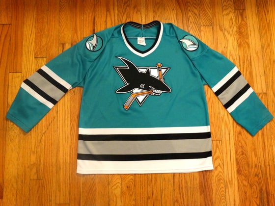Image of (M) Deadstock San Jose Sharks Official CCM Jersey