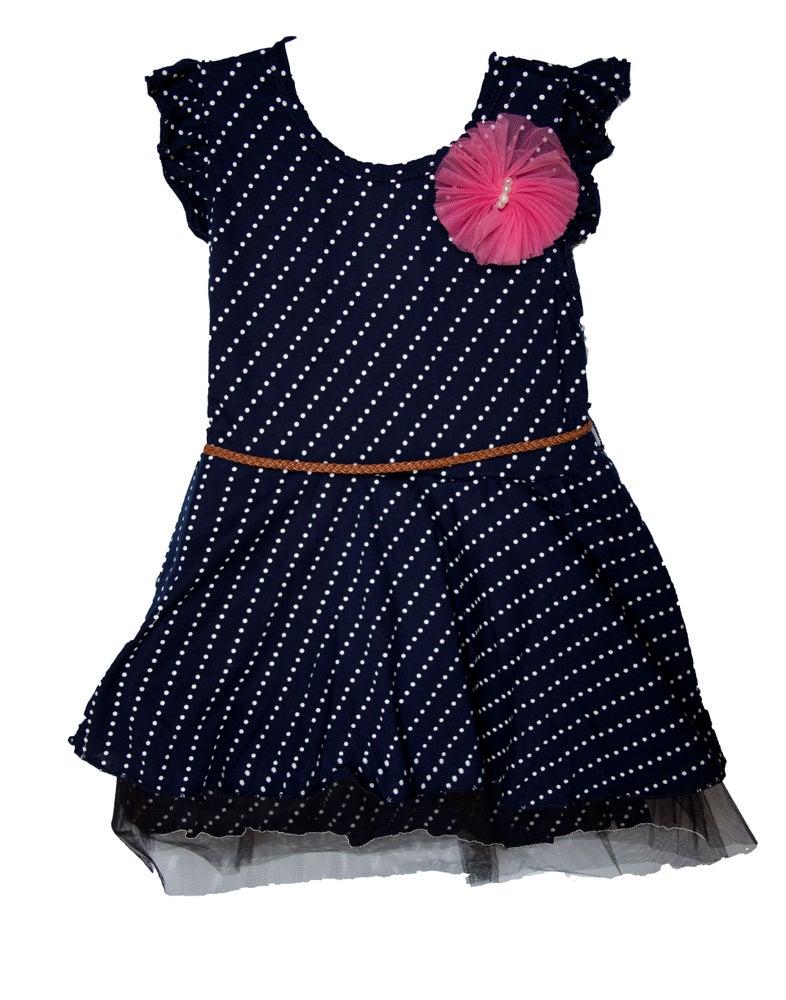 Image of Blue Polkadot Dress