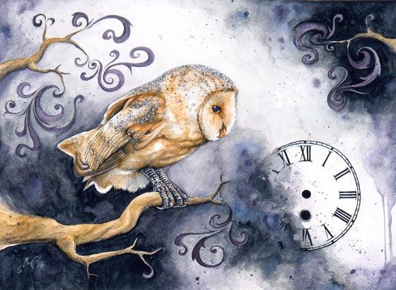 Image of Timelapse - Giclee Fine Art Print, Barn Owl