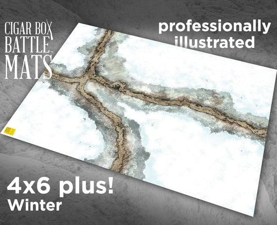 Image of Winter Gaming Battle Mat with Roads --  4'x6' plus  -- #106