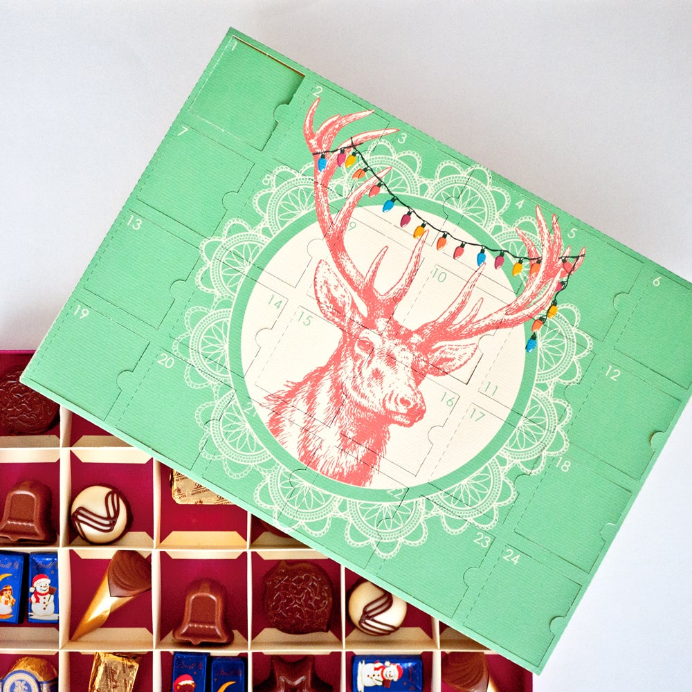 Advent Calendar Diy Template : Digital download diy chocolate advent calendar next to nicx