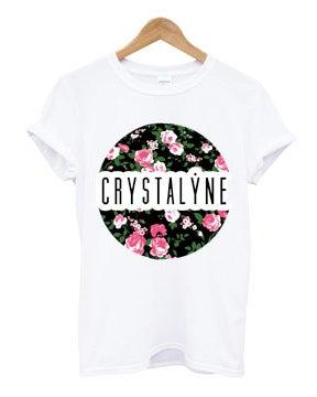 Image of Crystalyne Floral T-Shirt - Ladies