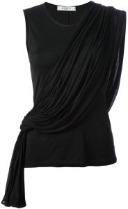 Image of GIVENCHY- black draped top (1left)