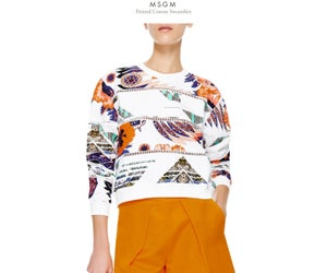 Image of MSGM - printed sweatshirt