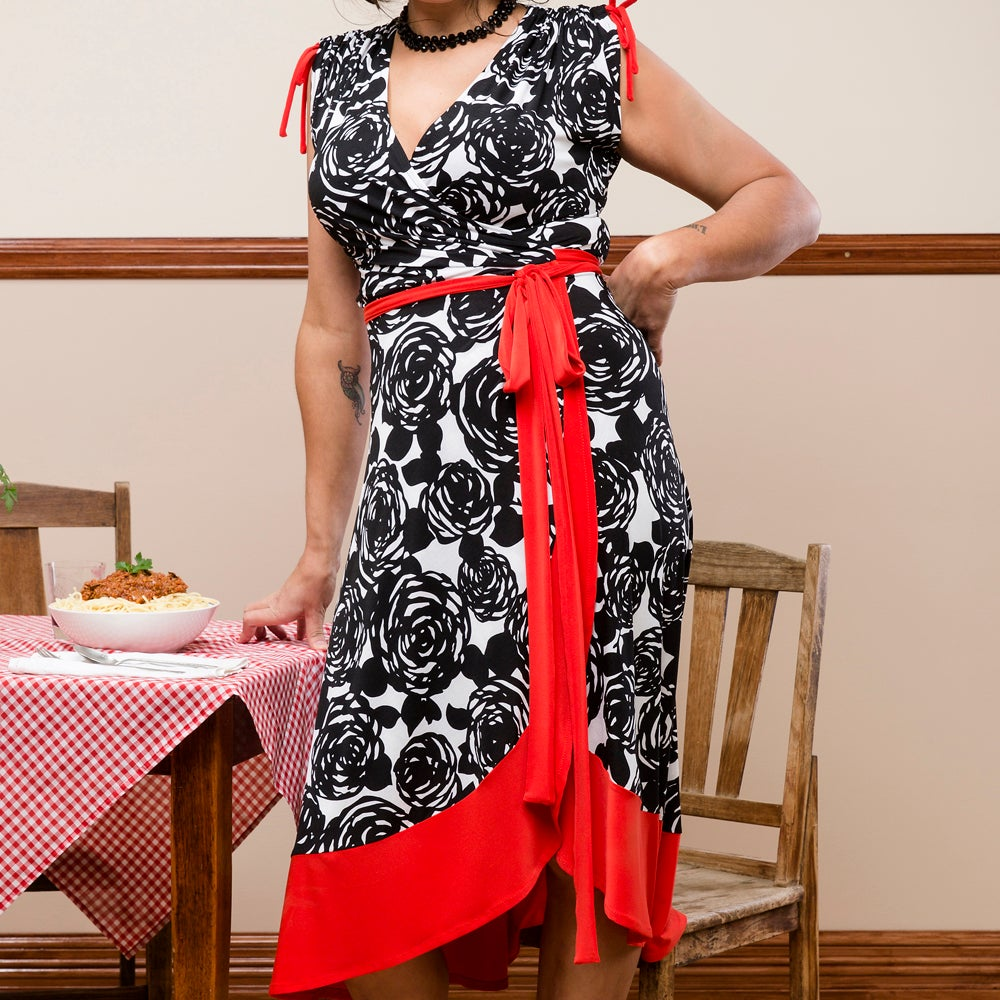 Image of CLAUDIA WRAP DRESS