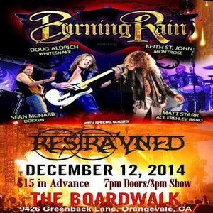 Image of Ticket: Burning Rain / Restrayned @ The Boardwalk