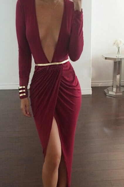 Image of SEXY DEEP V SHOW BODY HOT DRESS