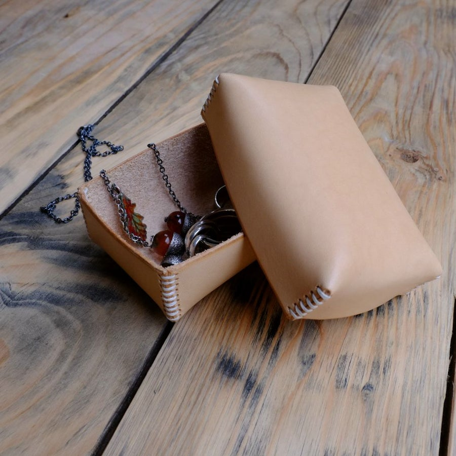 Image of Leather Pillow Box