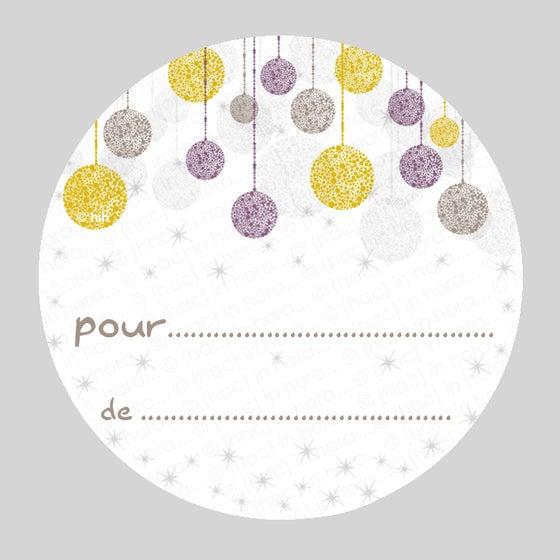 Image of étiquettes cadeau autocollantes ***glitter***
