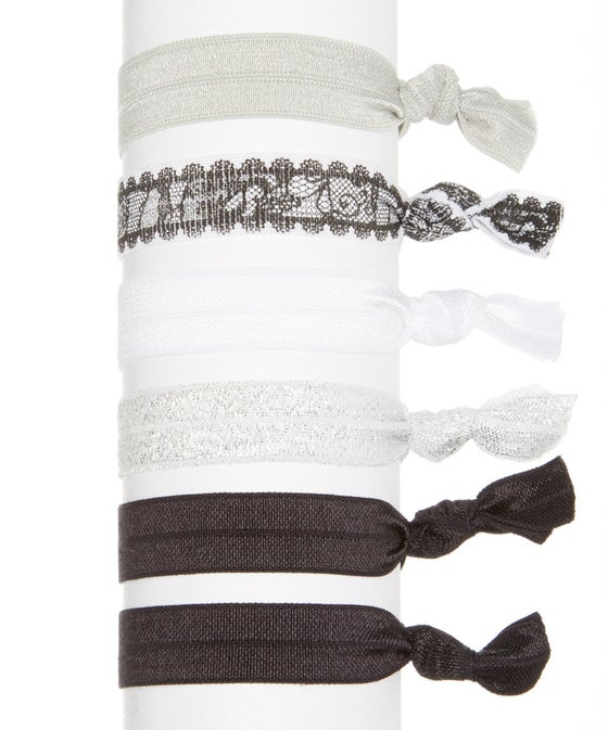 Image of Black Lace Hair Tie Set of 6