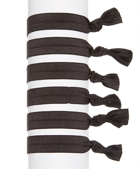 Image of Black Hair Tie Set of 6