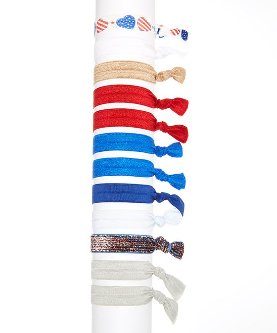 Image of American Pride Hair Tie Set of 12