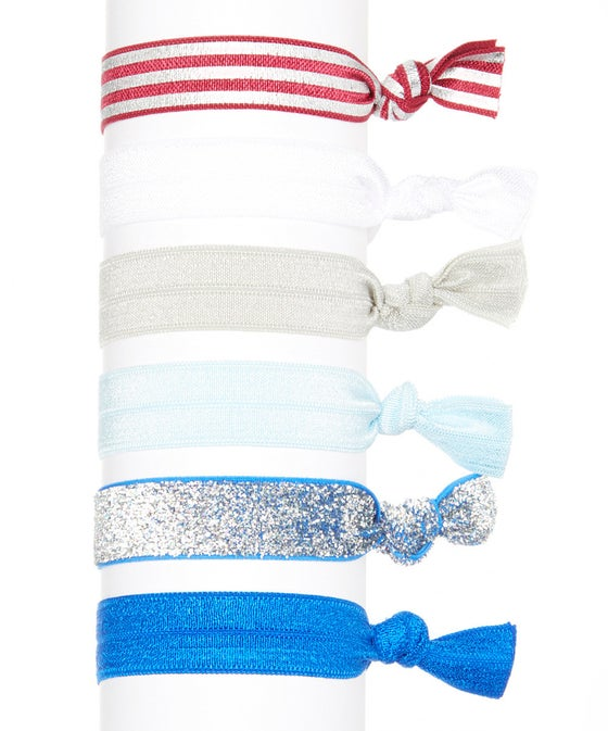 Image of Stars and Stripes Hair Tie Set of 6