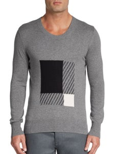 Image of Burberry Brit Gray Eabel Tonal Graphic Box Pullover