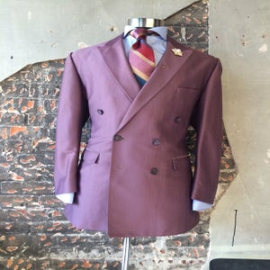 Image of Pale Lavendar Double Breasted Jacket