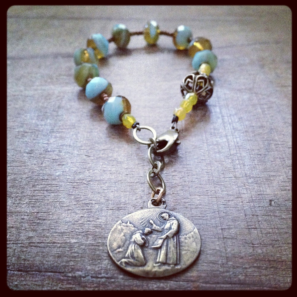 Image of LIFE IS A BLESSING Chaplet Bracelet