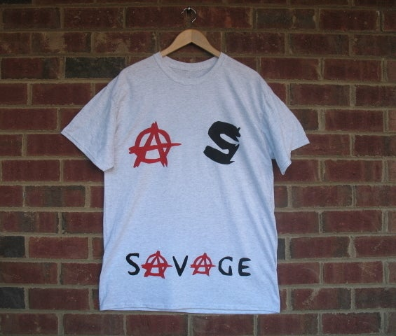 """Image of City of Savages """"Anarchy"""" T-Shirt (Ash Grey)"""