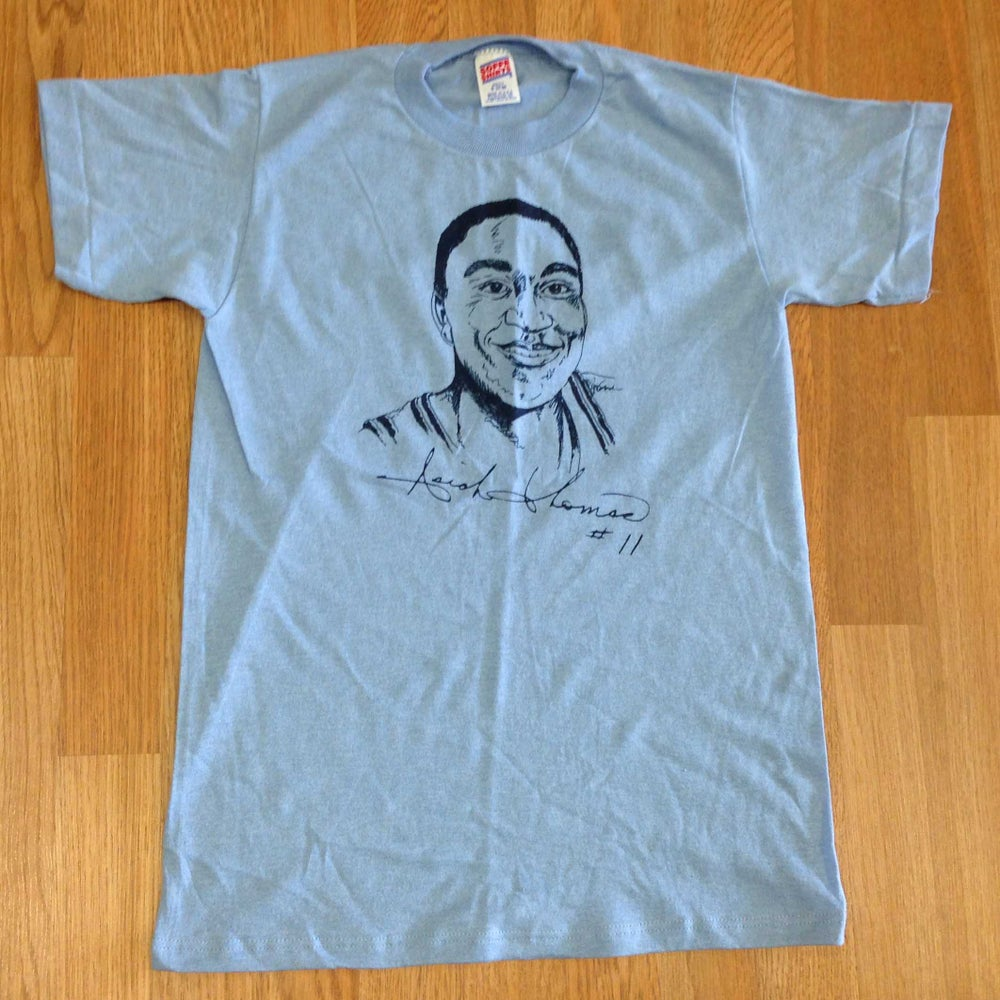 Image of Vintage Deadstock Isiah Thomas #11 Soffe Blue T-Shirt