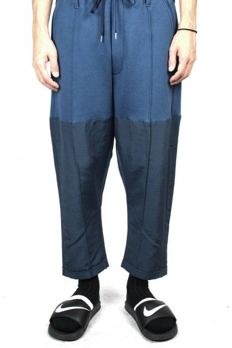 Image of GROSGRAIN DOCKING JOGGERPANTS-NAVY