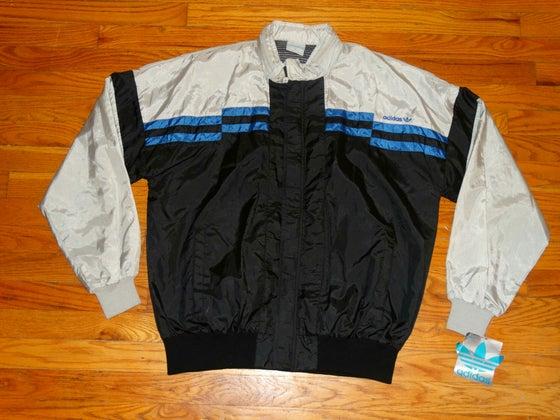 Image of (M & L) Deadstock 90's Men's Adidas Original Sport Windbreaker w/Zip-Up Hood