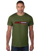 "Image of Bacon Is ""A True American Hero"" Men's T-Shirt Green"