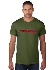 "Image of Bacon Is ""A True American Hero"" Men's T-Shirt Green"