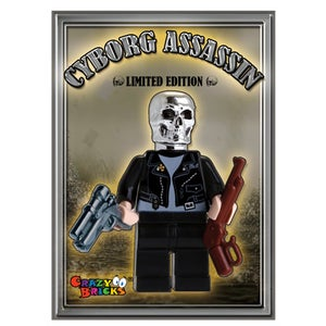 Image of Cyborg Assassin Custom Minifig - ON SALE!