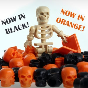 Image of SKULLS are now in BLACK and ORANGE and ON SALE!