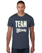 "Image of Baconfest Michigan ""Team Bacon"" Unisex T-Shirt - Medium Grey"