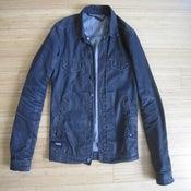 Image of Comune Waxed Black Denim Jacket, S