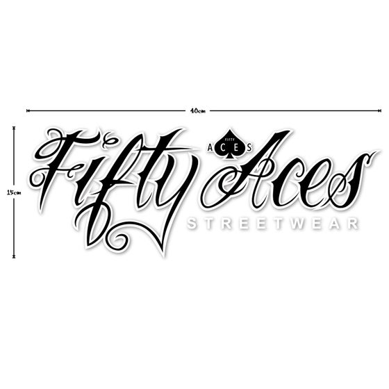 Image of Fifty Aces Decal