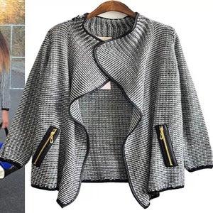 Image of Mekenzi pu trim sweater