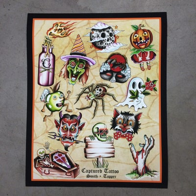 Image of NEW! HALLOWEEN SPLIT FLASH SHEET