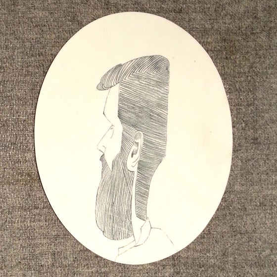 Image of Porcelain Portrait Plate (1 of 3)