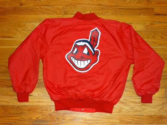 Image of (M) Deadstock Cleveland Indians Light Coach Style Jacket