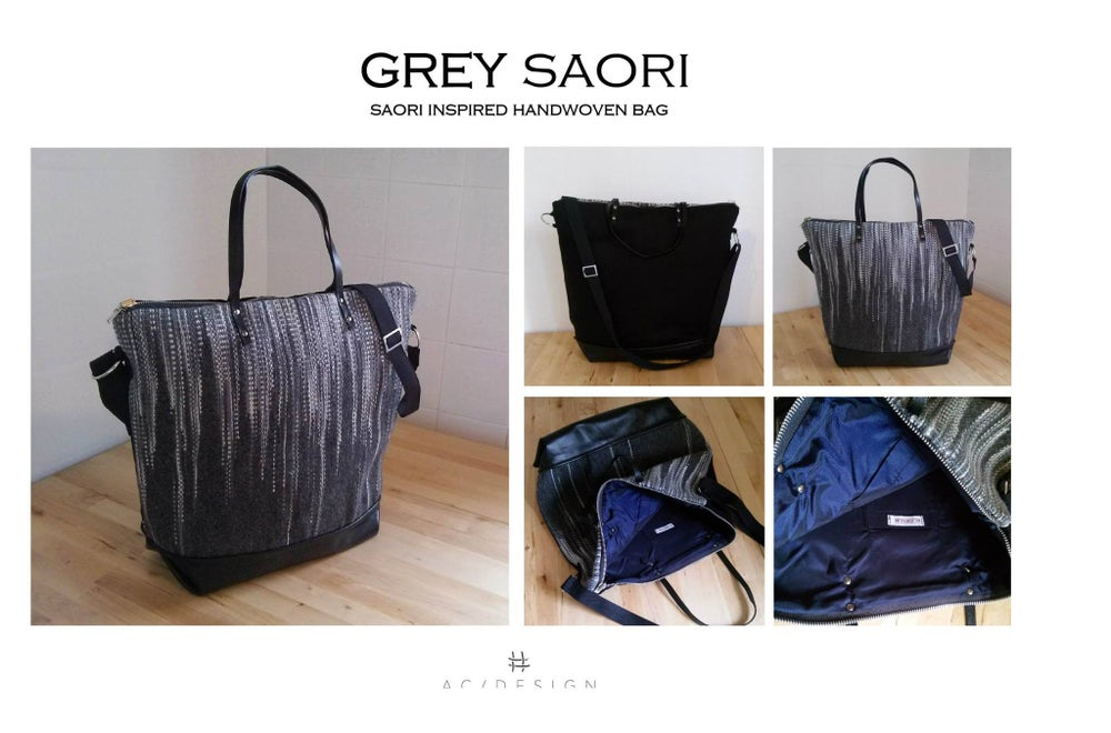 Image of SAORI GRAY ZIP BAG