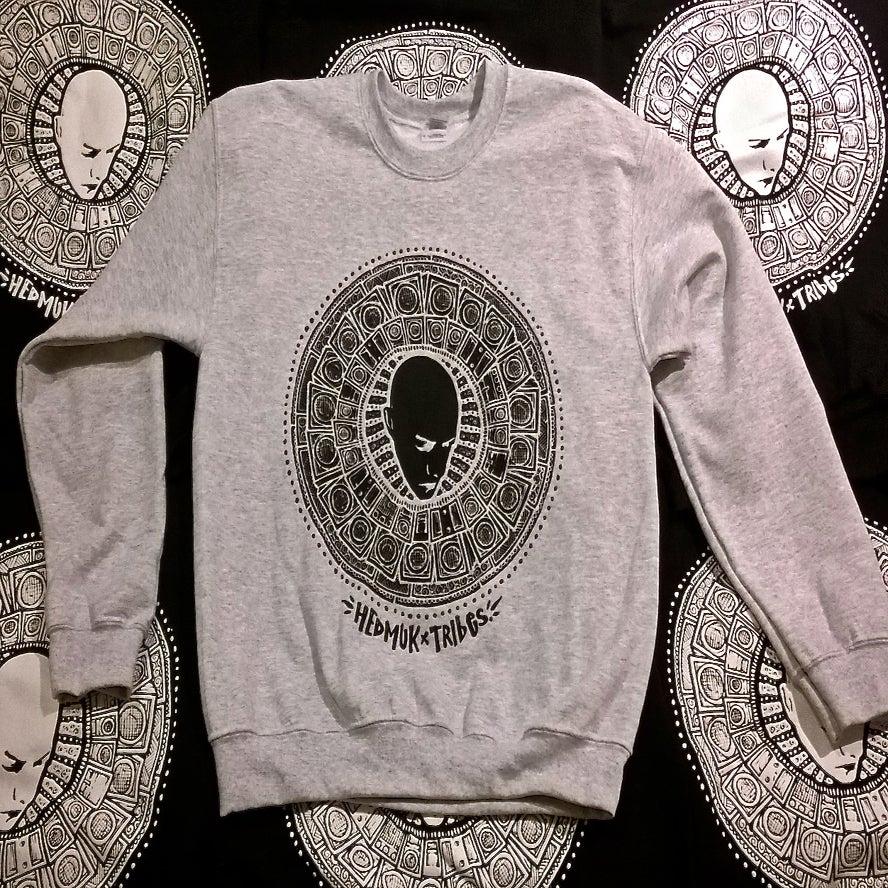 Image of Hedmuk X The Tribes #3 - Sweatshirt #002 - Grey w/ Black