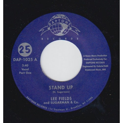 Image of STAND UP PTS. 1 &2-LEE FIELDS AND SUGARMAN & CO.