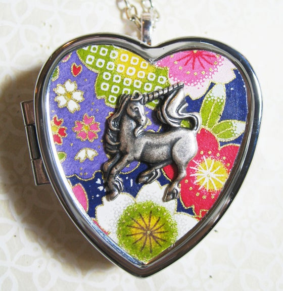 Image of Little Unicorn Music Box Locket - carnivale